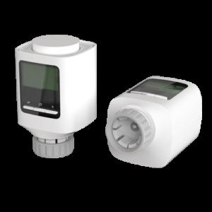 Valvola intelligente per radiatore Collegamenti via radio con NVS-THERMOSTAT Controllo della temperatura per stanza Adattatori universali per valvole Compatibile con TUYA Smart Compatibile con Alexa e Google Assistant