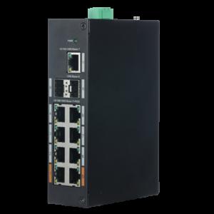 Switch Industrial X-Security 8 porte PoE (RJ45) + 2 Porte Gigabit (SFP) + 1 Porta Uplink Gigabit
