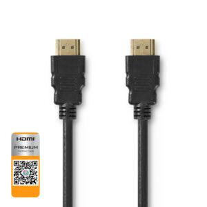 Cavo HDMI ™ ad alta velocità con Ethernet Connettore HDMI ™ | Connettore HDMI ™ | 4K@60Hz | 18 Gbps | 1.00 m | Tondo | PVC | Nero | Blister