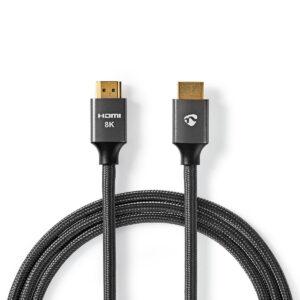 Cavo HDMI ™ ad altissima velocità Connettore HDMI ™ | Connettore HDMI ™ | 8K@60Hz | 48 Gbps | 1.00 m | Tondo | 6.3 mm | Grigio piombo/Antracite | Confezione con finestra