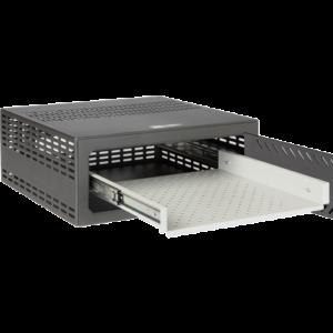 VR-020 PN85767-24194 Vassoio estraibile per cassaforte Compatibile con VR120 e VR120E Per DVR da 1,5 / 2 U rack Guide telescopiche con cuscinetti Totalmente estraibile Realizzato in acciaio